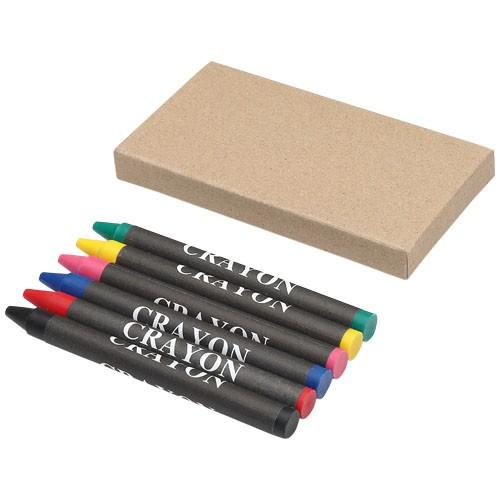 Ayo 6-piece coloured crayon set in grey