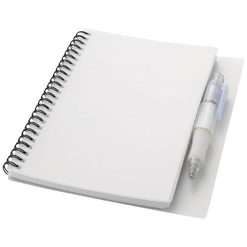 Hyatt notebook with pen in