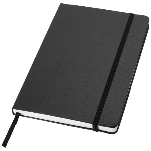 Classic A5 hard cover notebook in black-solid