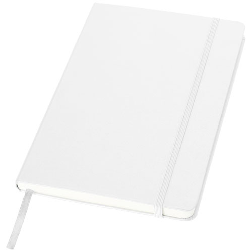 Classic A5 hard cover notebook in white-solid