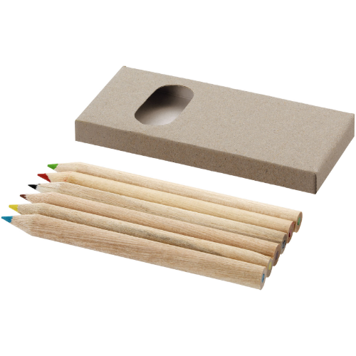 Ayola 6-piece coloured pencil set in brown