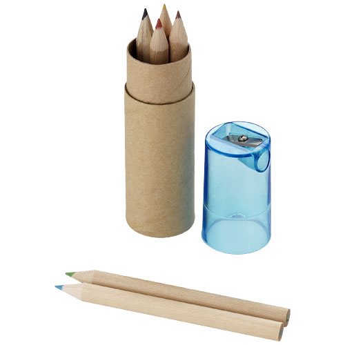 Kram 7-piece coloured pencil set in brown