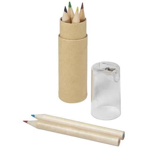 Kram 7-piece coloured pencil set in transparent-clear