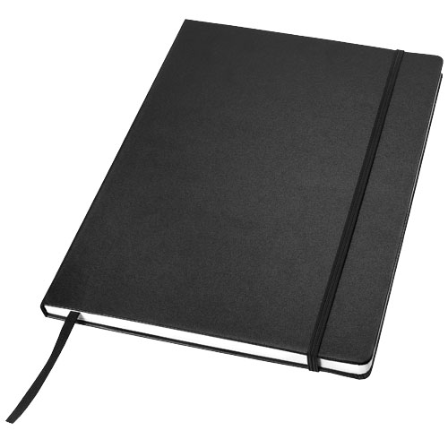 Executive A4 hard cover notebook in black-solid