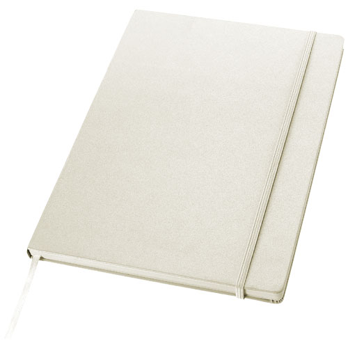 Executive A4 hard cover notebook in white-solid