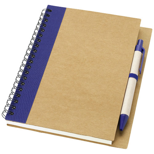 Priestly recycled notebook with pen in natural-and-navy