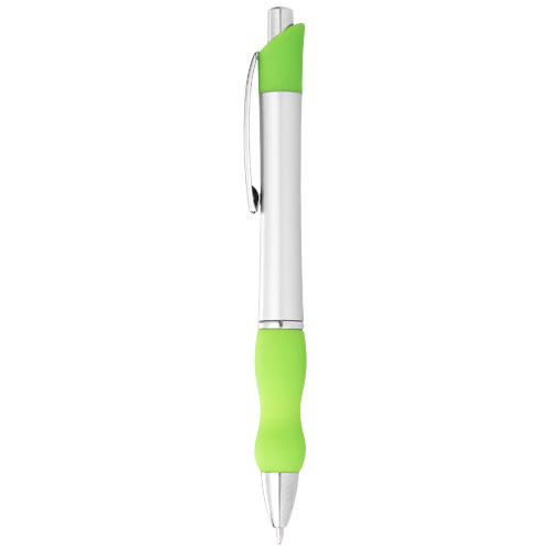 Bubble ballpoint pen in silver-and-green