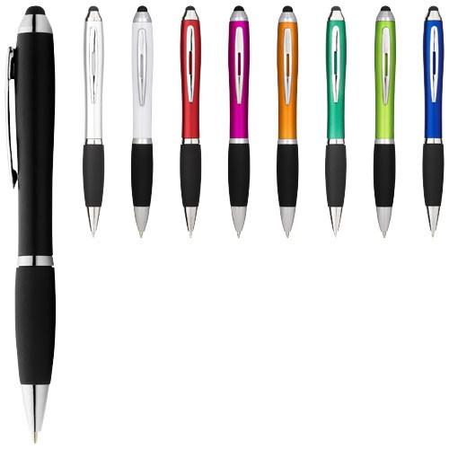 Nash coloured stylus ballpoint pen with black grip in