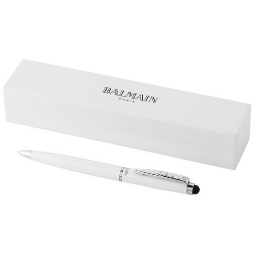 Stylus ballpoint pen in white-solid