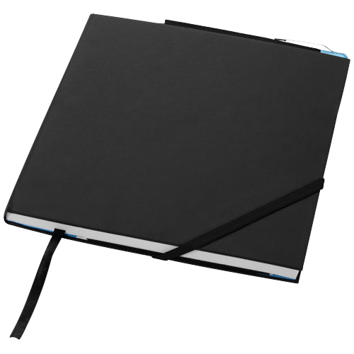 Delta hard cover notebook in black-solid