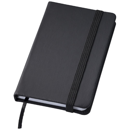 Rainbow small hard cover notebook in black-solid