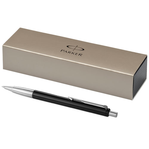 Vector ballpoint pen in black-solid-and-silver