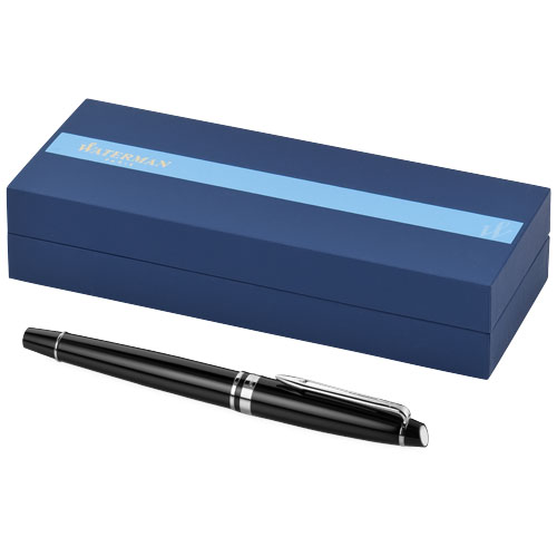 Expert fountain pen in black-solid-and-chrome