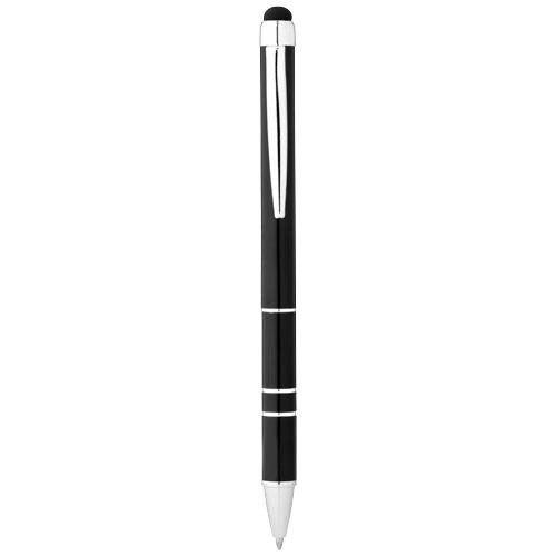 Charleston aluminium stylus ballpoint pen in black-solid