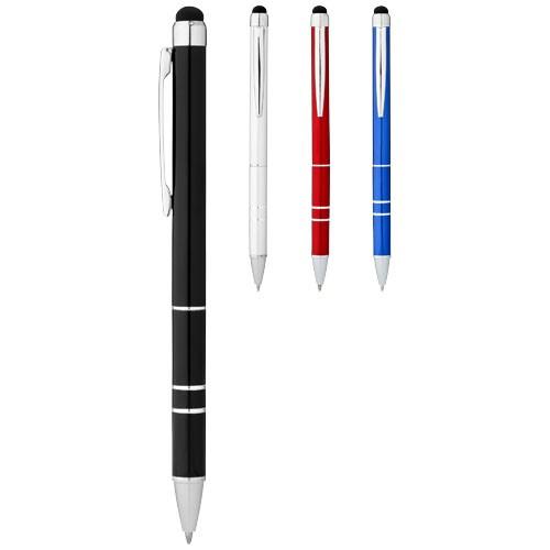 Charleston aluminium stylus ballpoint pen in blue