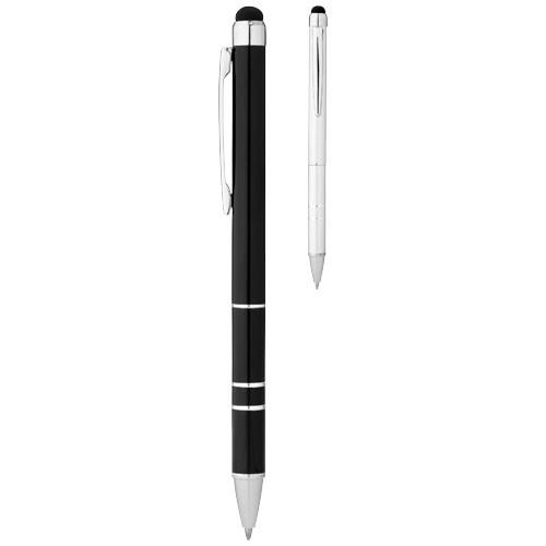 Charleston stylus ballpoint pen in silver