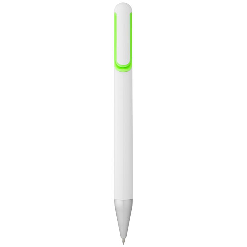 Nassau ballpoint pen in white-solid-and-green
