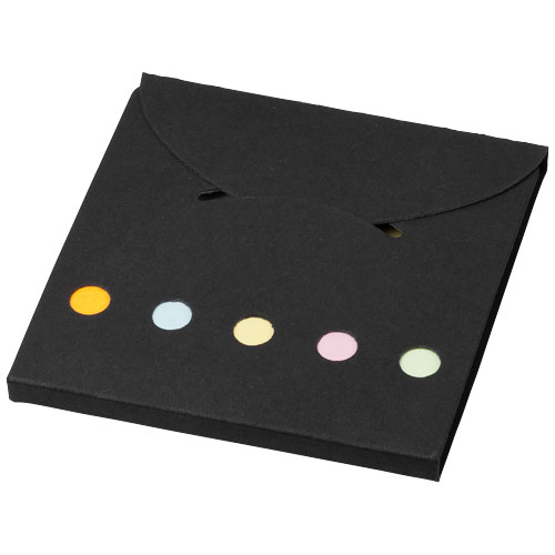 Deluxe coloured sticky notes set in black-solid