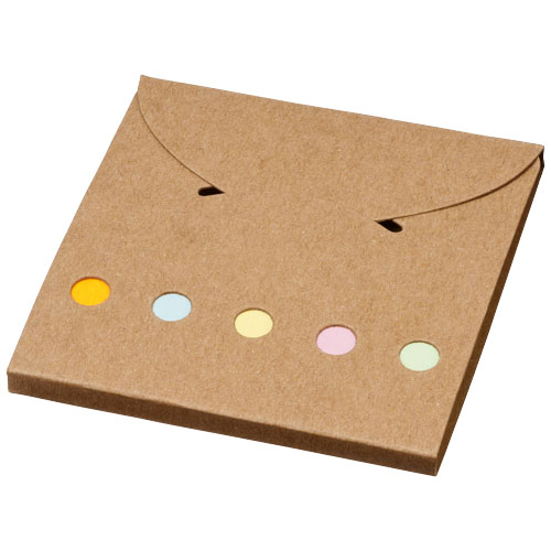 Deluxe coloured sticky notes set in natural