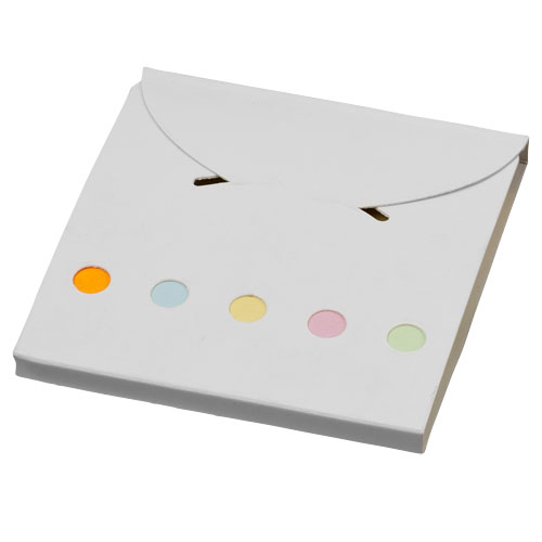 Deluxe coloured sticky notes set in white-solid