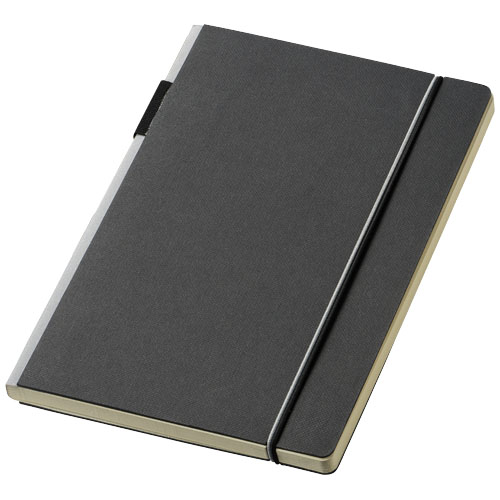 Cuppia A5 hard cover notebook in black-solid-and-grey