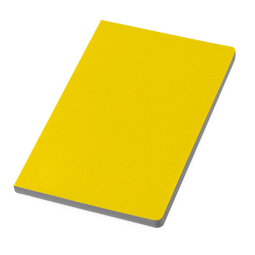 City notebook in yellow