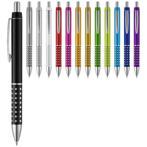 Bling ballpoint pen with aluminium grip in yellow