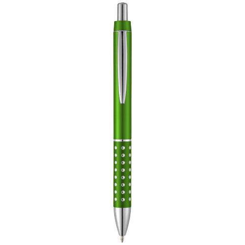 Bling ballpoint pen with aluminium grip in green