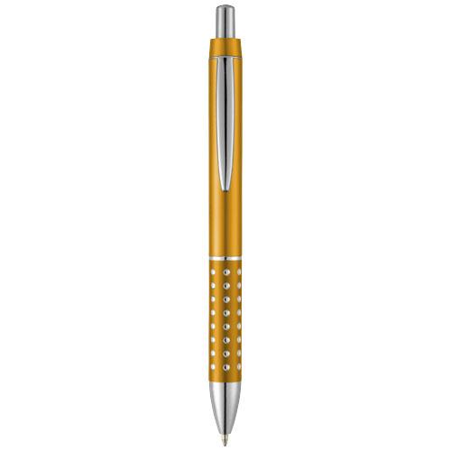 Bling ballpoint pen with aluminium grip in orange