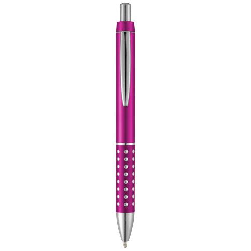 Bling ballpoint pen with aluminium grip in pink