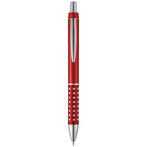Bling ballpoint pen with aluminium grip in red