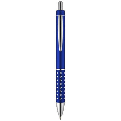 Bling ballpoint pen with aluminium grip in royal-blue