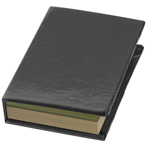 Storm sticky notes booklet in black-solid