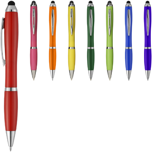 Nash stylus ballpoint pen with coloured grip in royal-blue