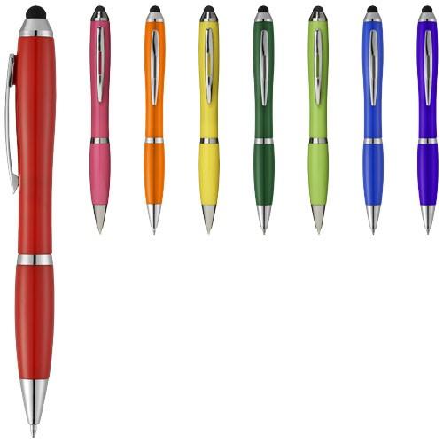 Nash stylus ballpoint pen with coloured grip in orange
