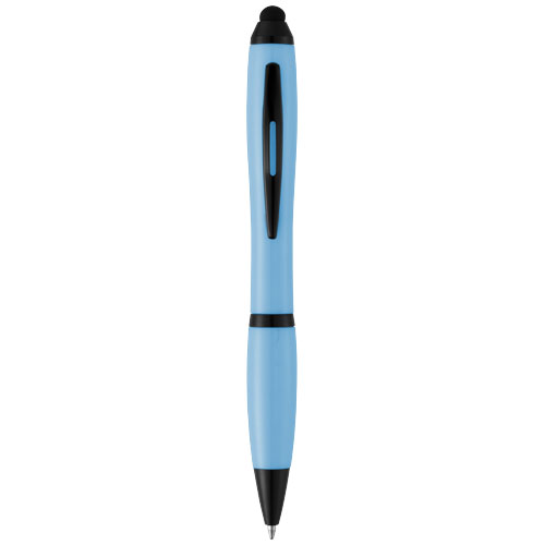 Nash stylus ballpoint pen with coloured grip in blue