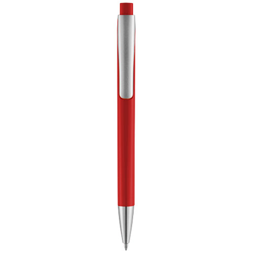 Pavo ballpoint pen with squared barrel in red