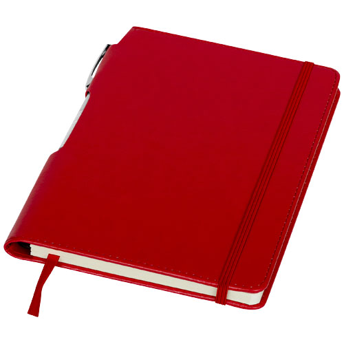 Panama A5 hard cover notebook with pen in red