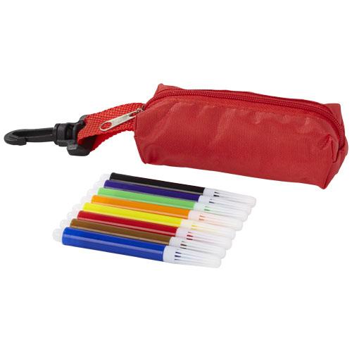 8-piece marker set in red