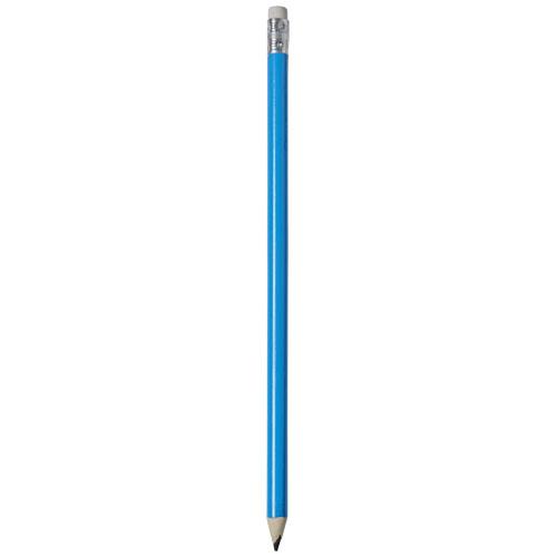 Alegra pencil with coloured barrel in process-blue