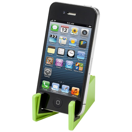 Slim device stand for tablets and smartphones in lime