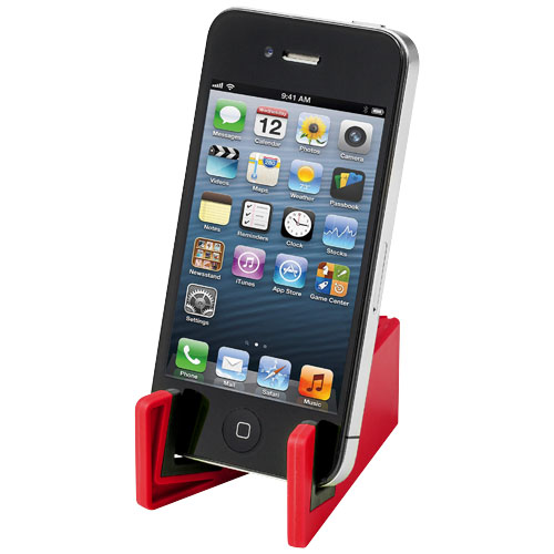 Slim device stand for tablets and smartphones in red