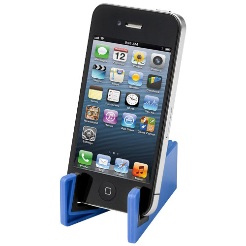 Slim device stand for tablets and smartphones in royal-blue