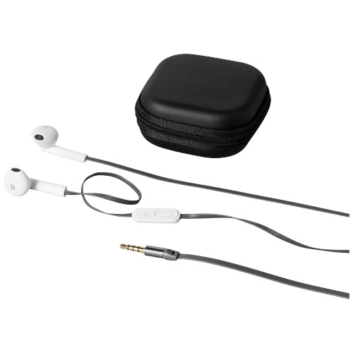 Fusion earbuds in white-solid-and-grey