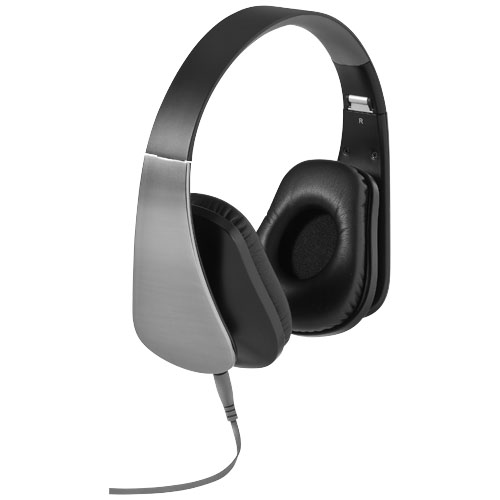 Mirage headphones in silver-and-black-solid