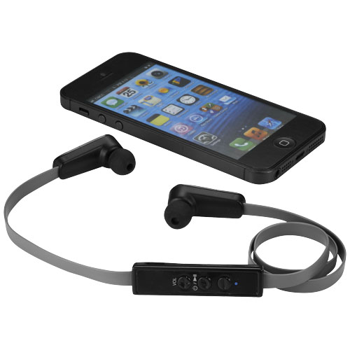 Blurr Bluetooth® earbuds in black-solid-and-grey