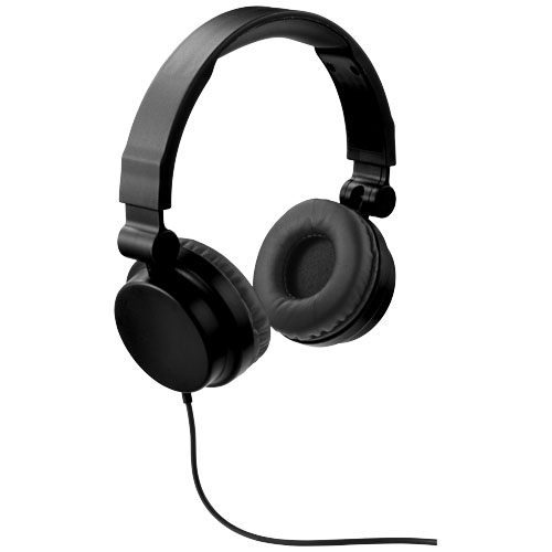 Rally foldable headphones in black-solid