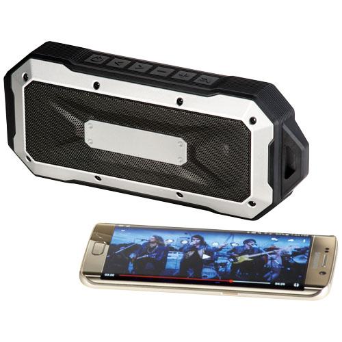 Boulder Waterproof Outdoor Bluetooth® Speaker in black-solid