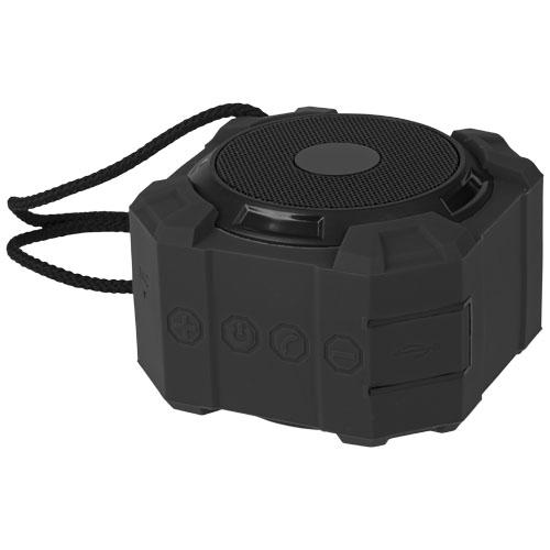 Cube water-splash resistant Bluetooth® speaker in black-solid