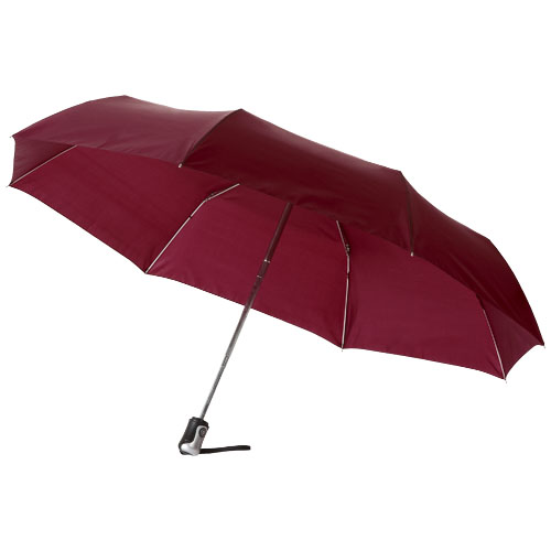 Alex 21.5'' foldable auto open/close umbrella in burgundy